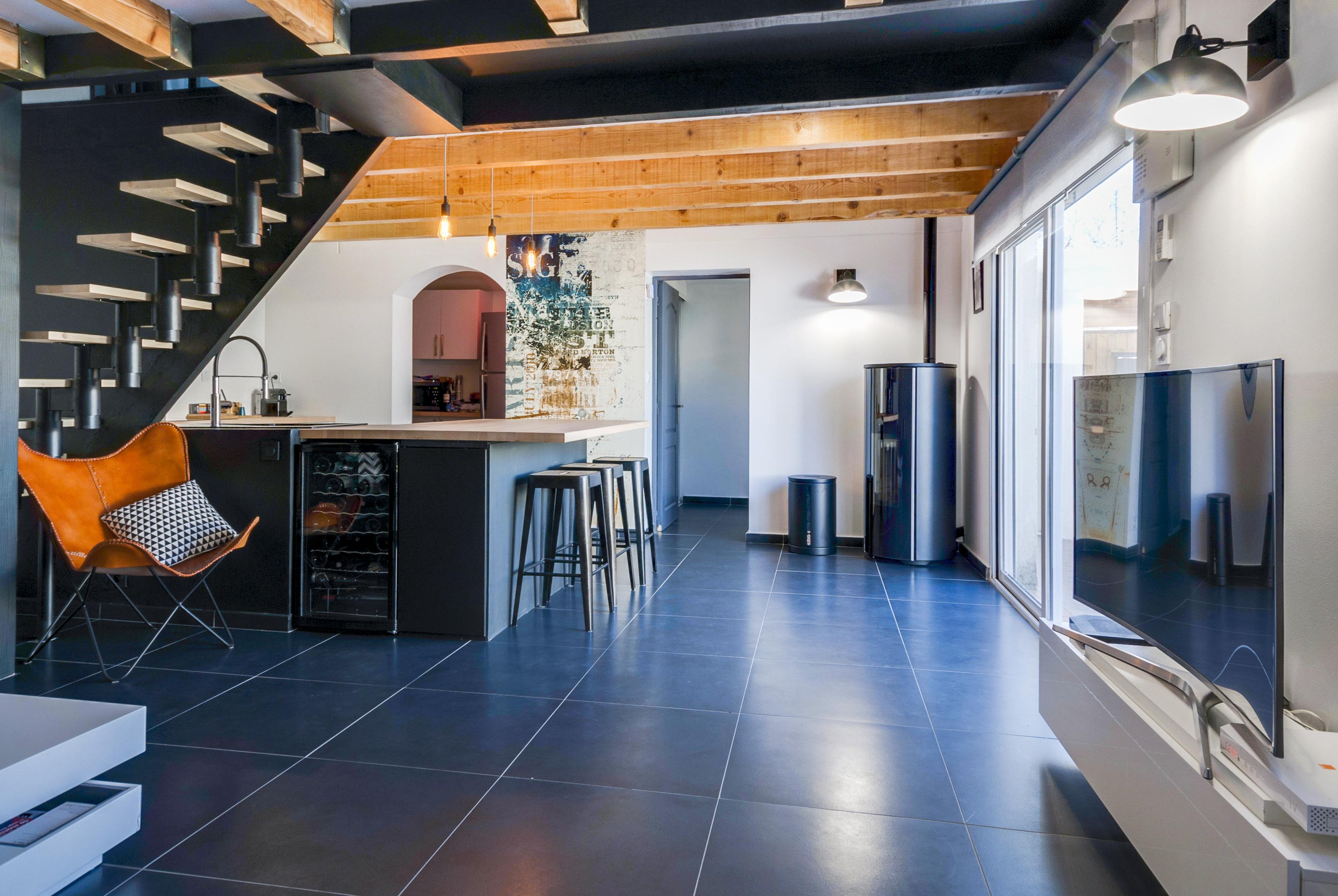 photo maison interieur ramnagement et dcoration. Black Bedroom Furniture Sets. Home Design Ideas